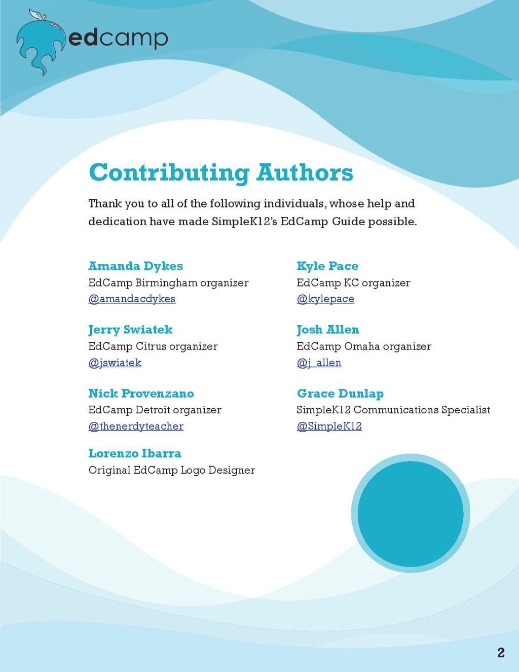 2 Contributing Authors Thank you to all of the ...