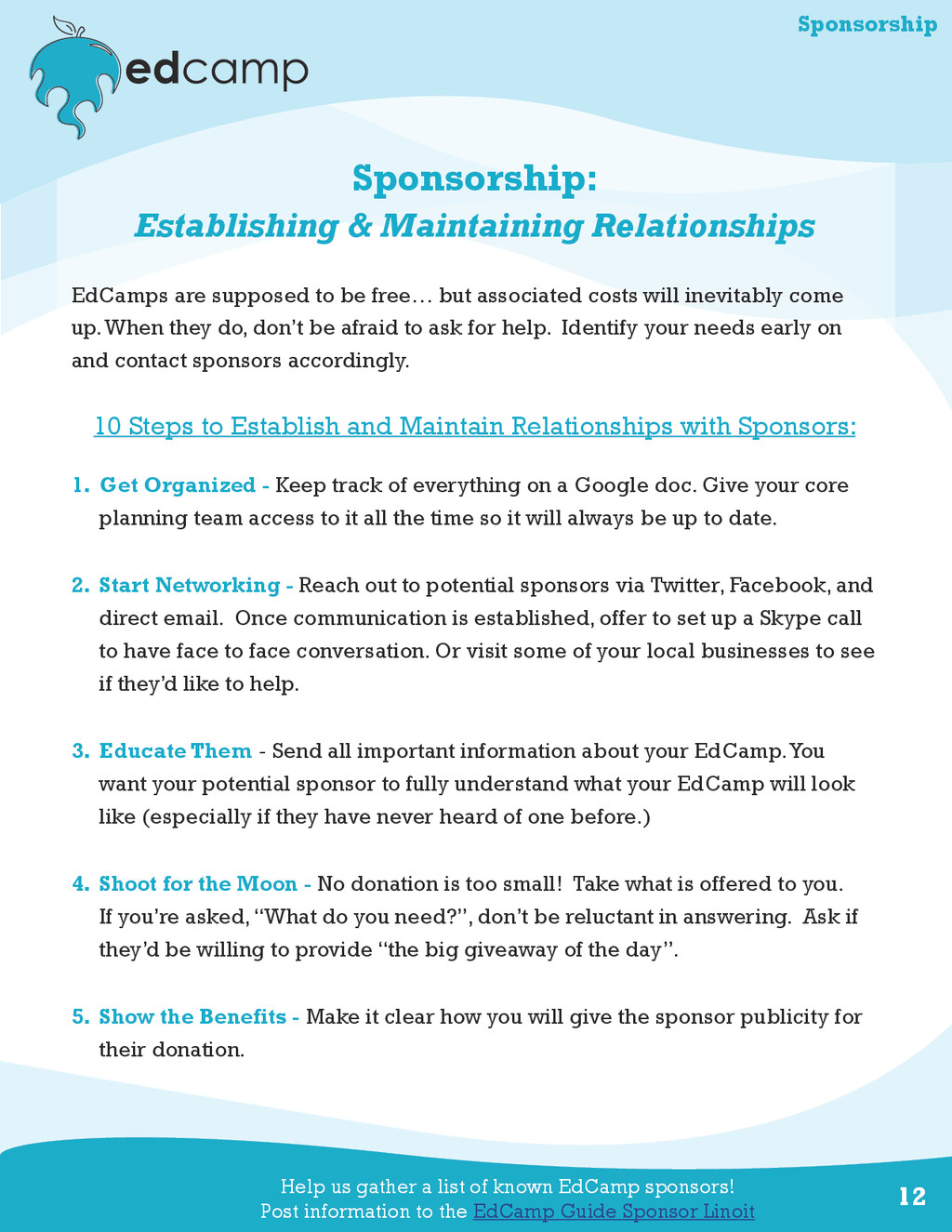 12 Sponsorship: Establishing & Maintaining Rela...