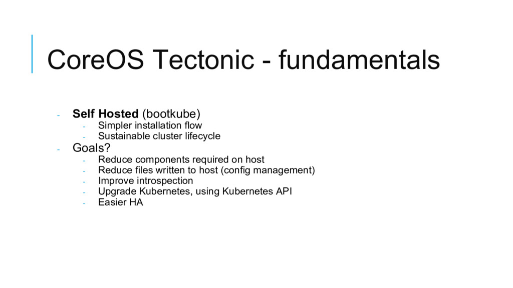 CoreOS Tectonic - fundamentals - Self Hosted (b...