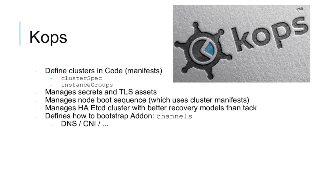 Kops - Define clusters in Code (manifests) - cl...