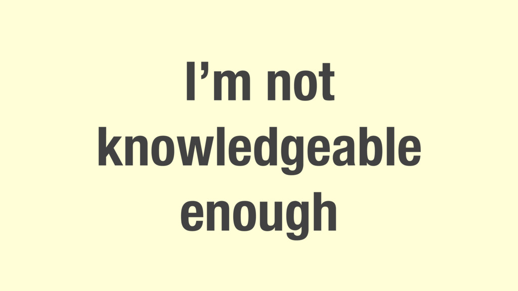 I'm not knowledgeable enough
