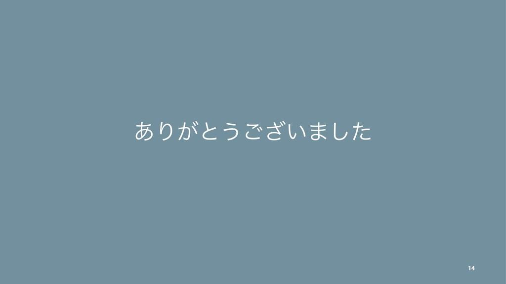 ͋Γ͕ͱ͏͍͟͝·ͨ͠ 14