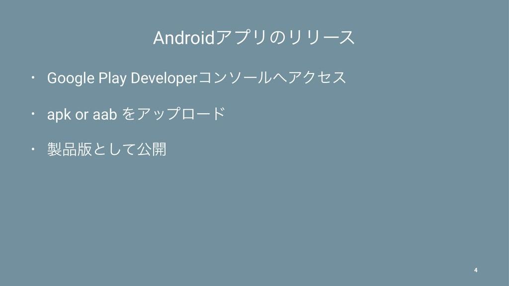 AndroidΞϓϦͷϦϦʔε • Google Play DeveloperίϯιʔϧΞΫ...