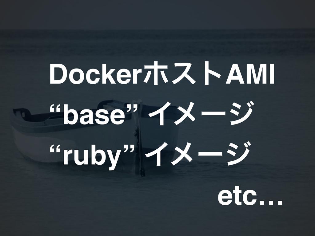 "DockerϗετAMI! ""base"" Πϝʔδ! ""ruby"" Πϝʔδ! etc…"