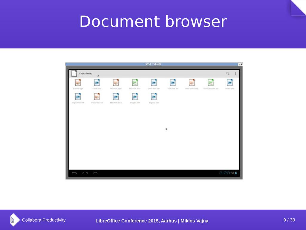 9 / 30 LibreOffice Conference 2015, Aarhus | Mi...