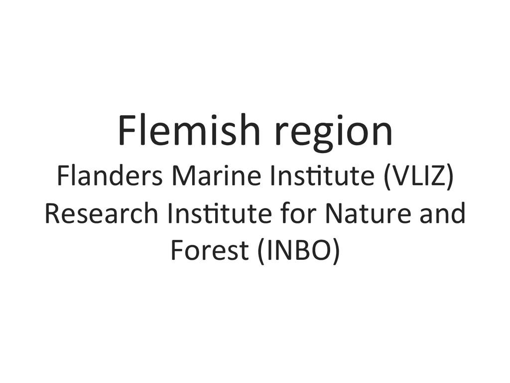 Flemish region  Flanders Marine Ins...