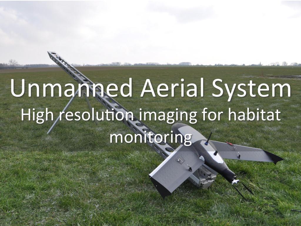 Unmanned Aerial System  High resolu...