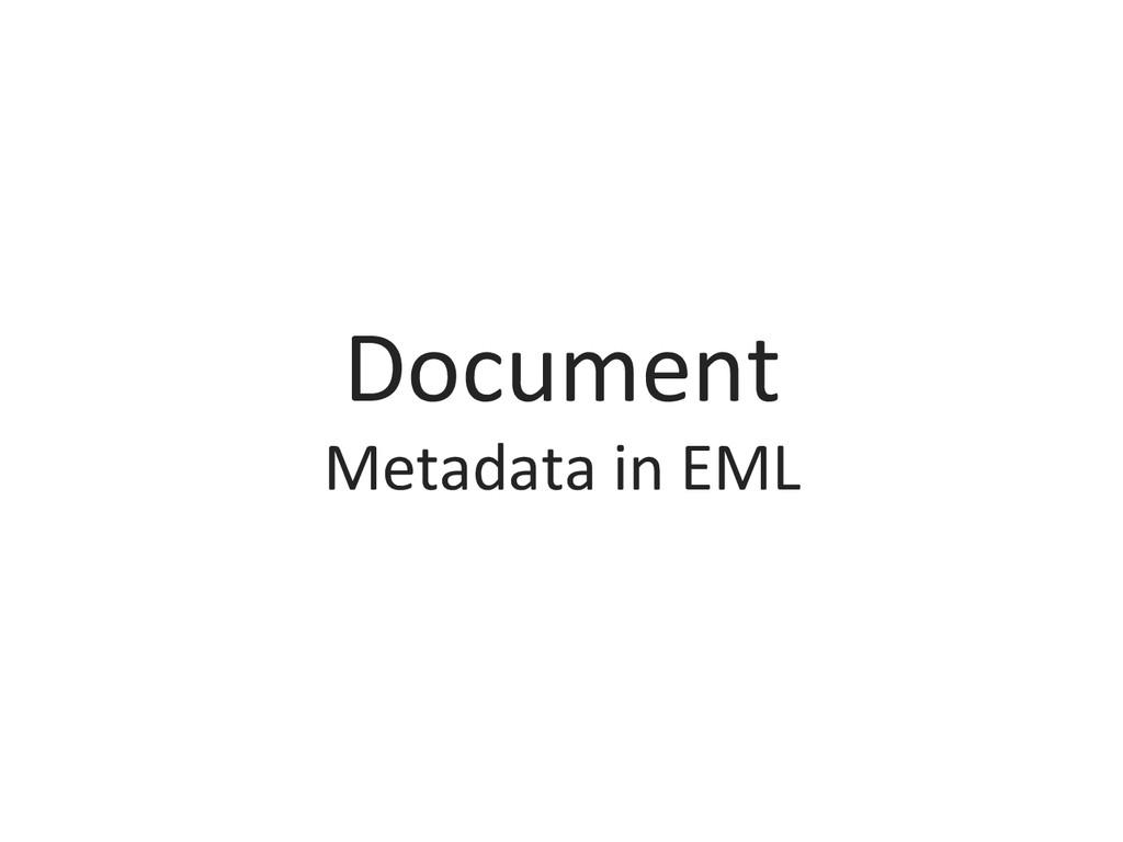 Document  Metadata in EML