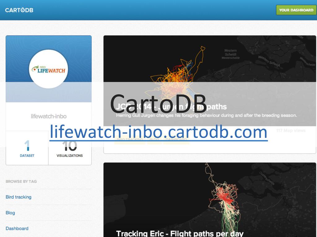 CartoDB  lifewatch-‐inbo.cartodb.com