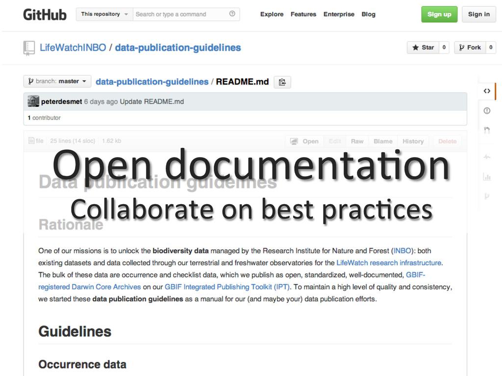 Open documenta0on  Collaborate on b...