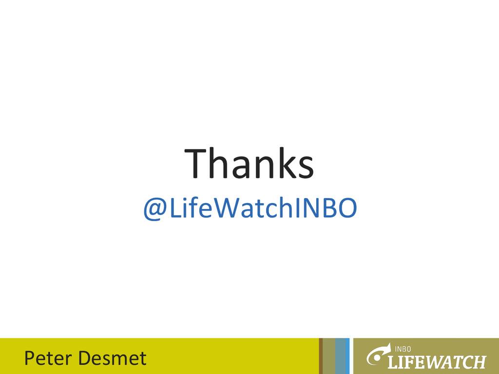 Peter Desmet  Thanks  @LifeWatchINBO...