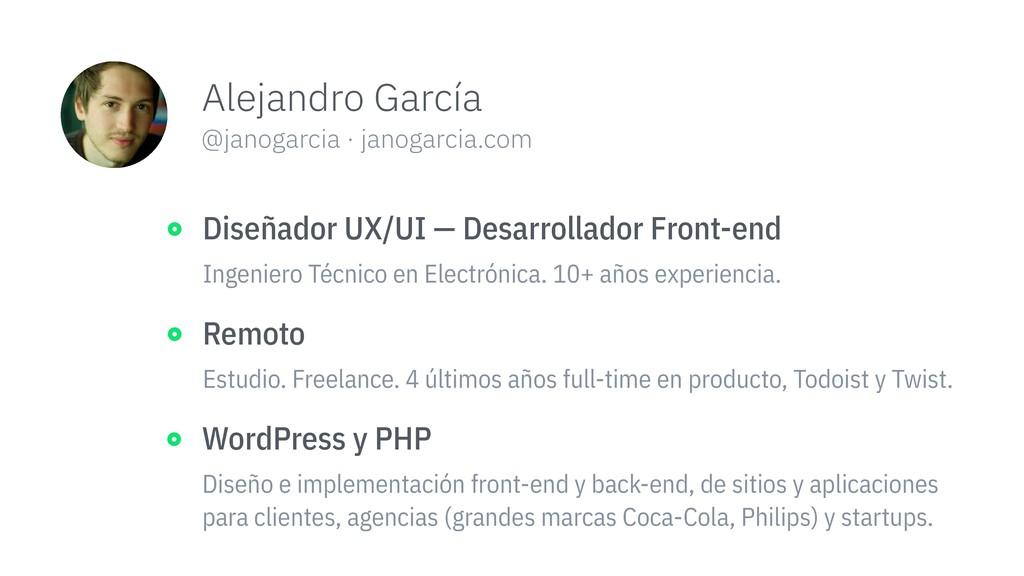 Alejandro García @janogarcia · janogarcia.com h...