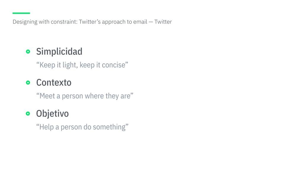 """Keep it light, keep it concise"" Simplicidad ""M..."