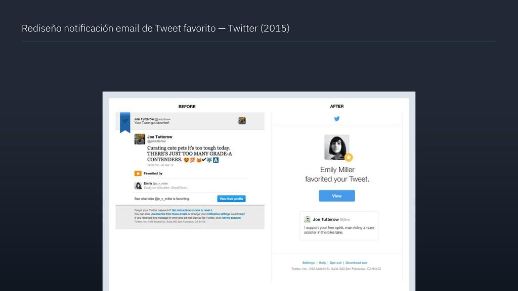 Rediseño notificación email de Tweet favorito — ...