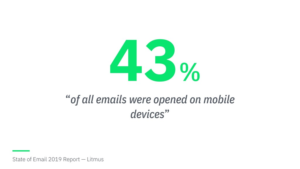 """""""of all emails were opened on mobile devices"""" 4..."""
