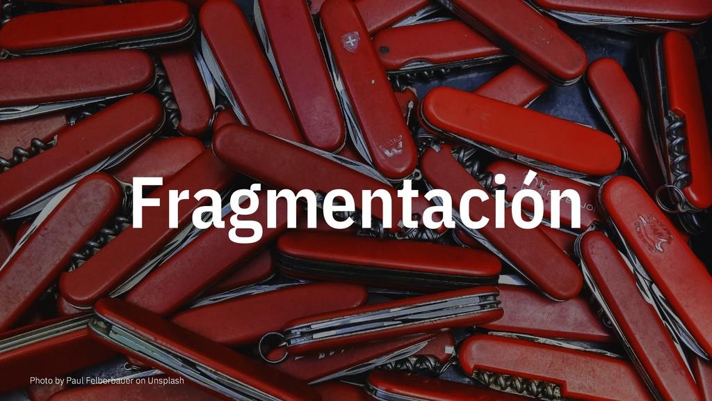 Fragmentación Photo by Paul Felberbauer on Unsp...