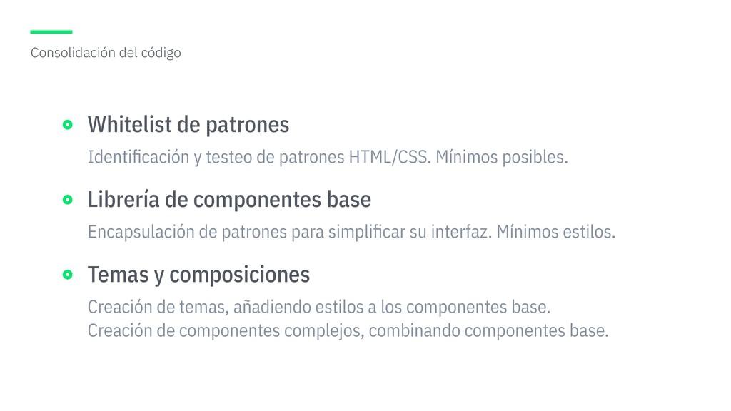 Identificación y testeo de patrones HTML/CSS. Mí...