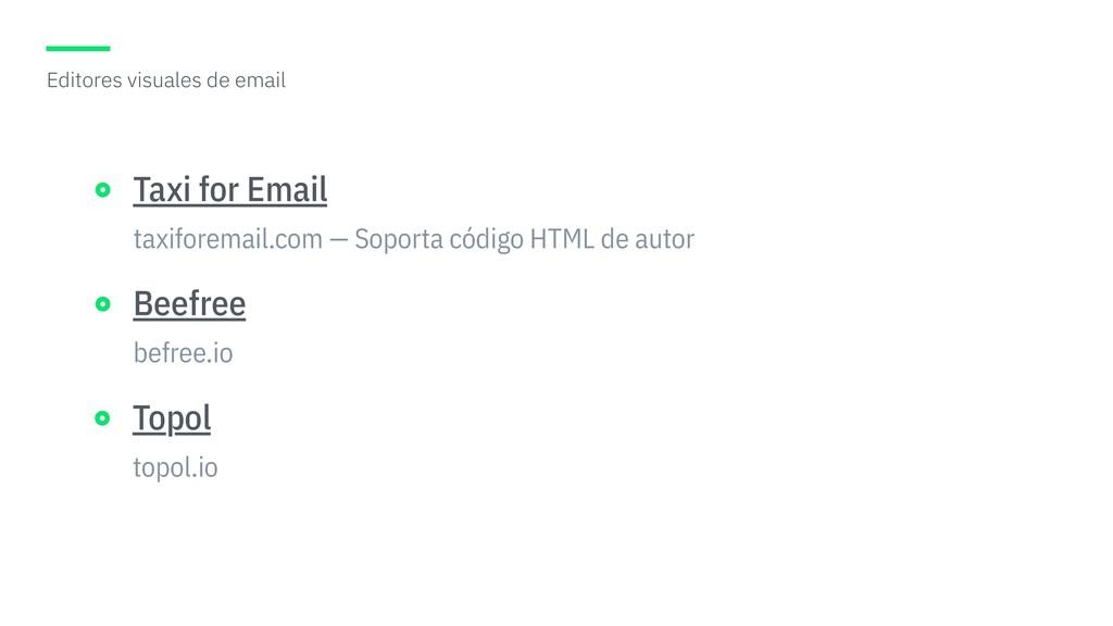 taxiforemail.com — Soporta código HTML de autor...