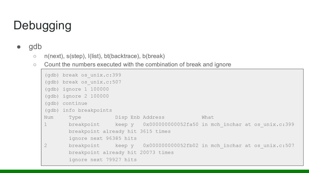 Debugging (gdb) break os_unix.c:399 (gdb) break...