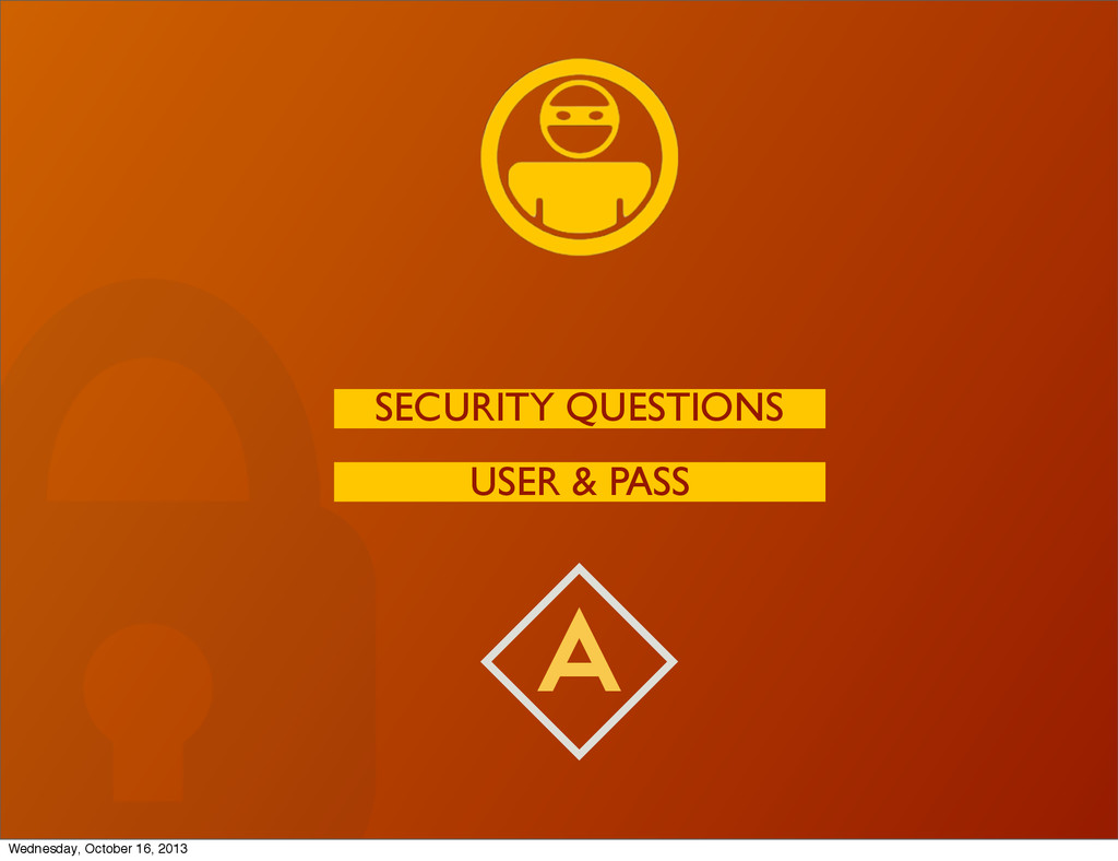 A USER & PASS SECURITY QUESTIONS Wednesday, Oct...
