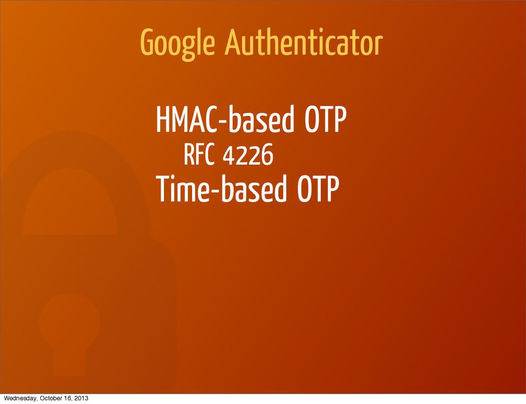 Google Authenticator HMAC-based OTP RFC 4226 Ti...