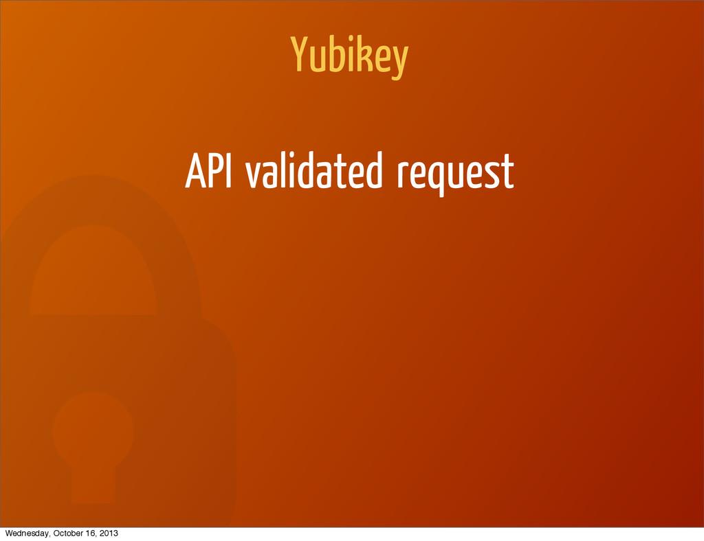 Yubikey API validated request Wednesday, Octobe...