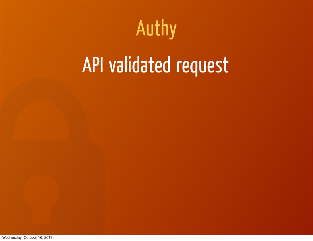 Authy API validated request Wednesday, October ...