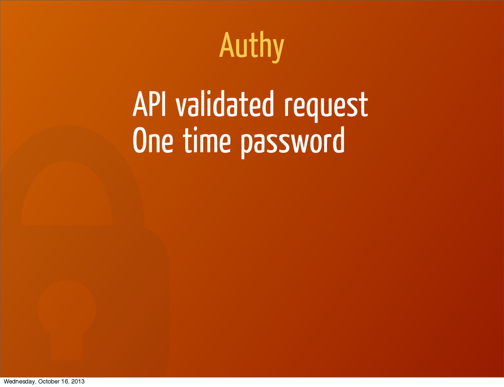 Authy API validated request One time password W...