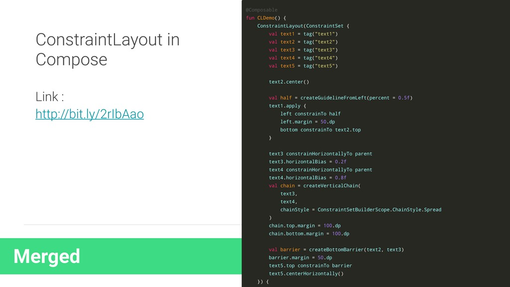 Merged ConstraintLayout in Compose Link : http:...