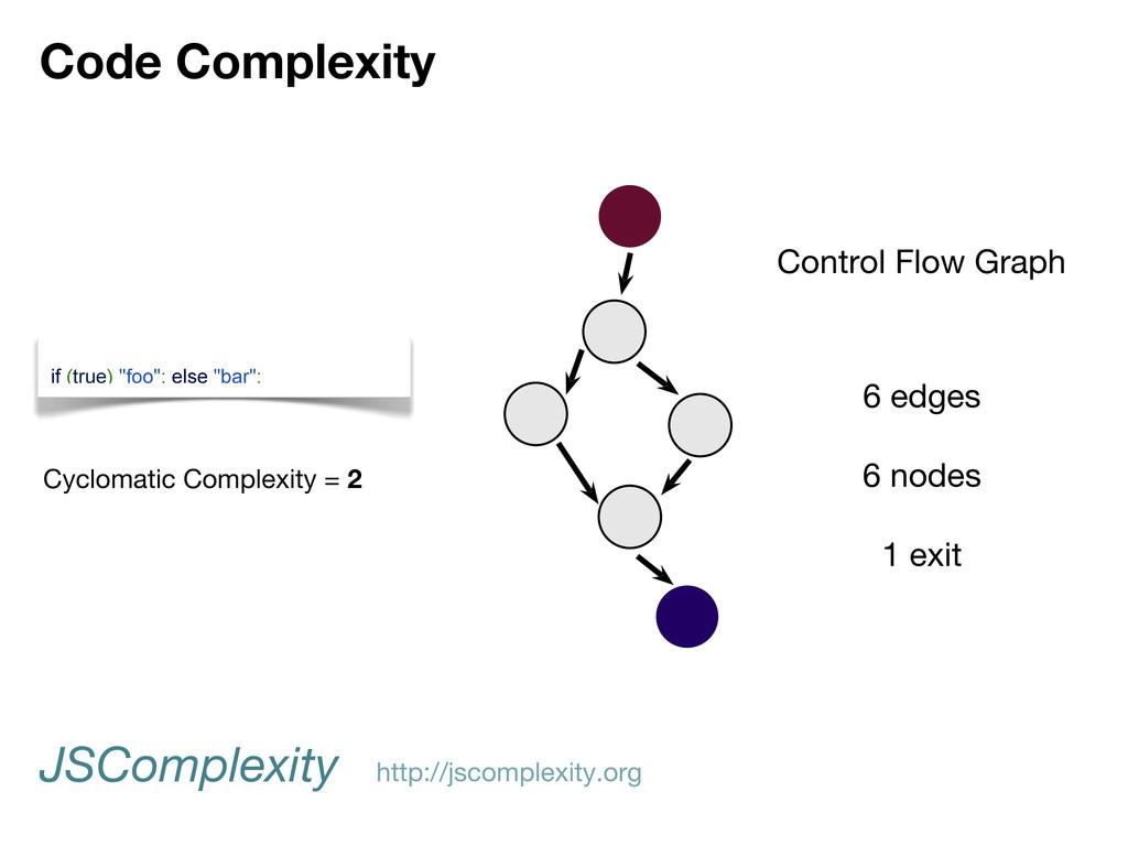 "Code Complexity if (true) ""foo""; else ""bar""; Co..."