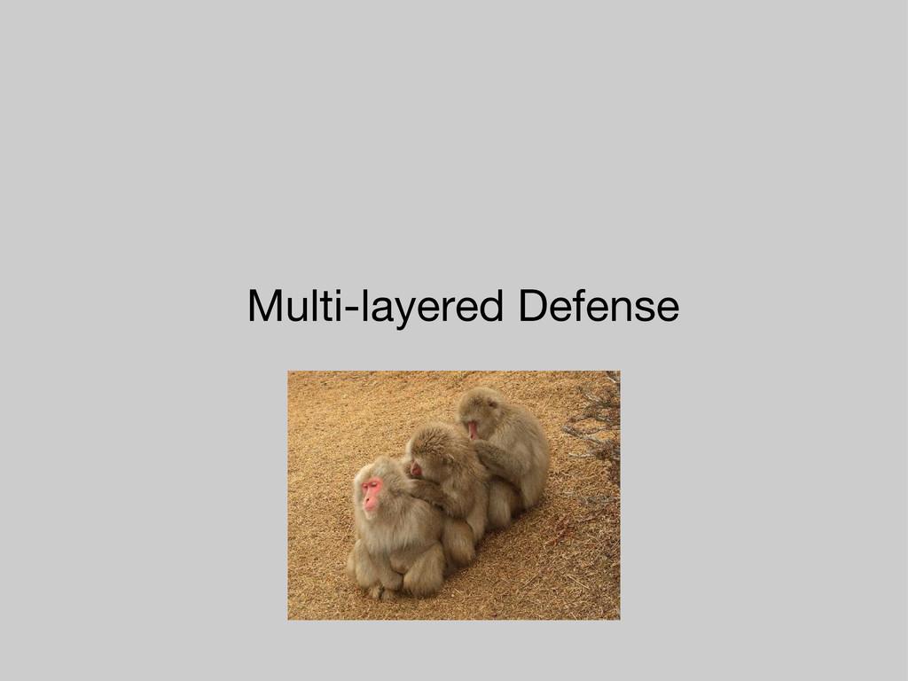 Multi-layered Defense