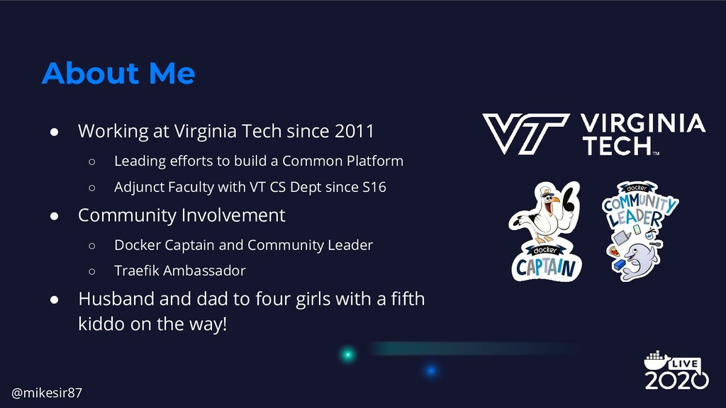 ● Working at Virginia Tech since 2011 ○ Leading...