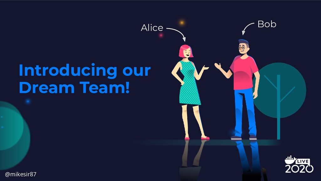 Introducing our Dream Team! Alice Bob @mikesir87