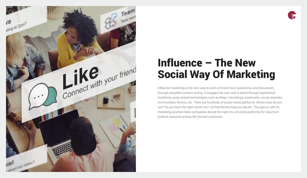 Influence – The New Social Way Of Marketing Inf...