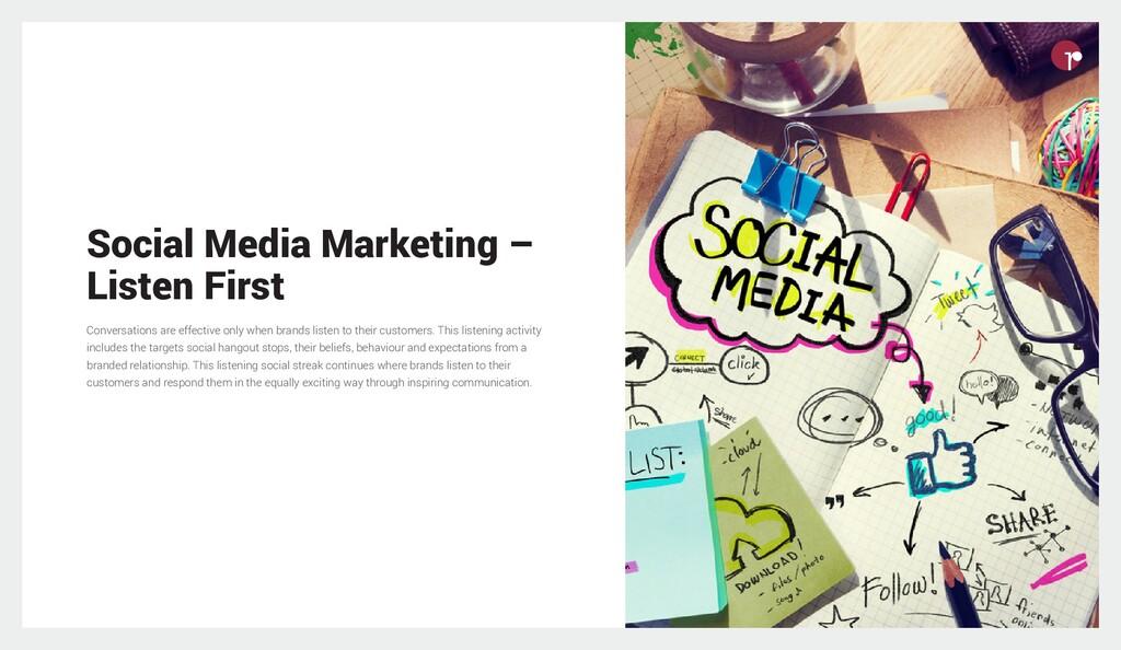 Social Media Marketing – Listen First Conversat...