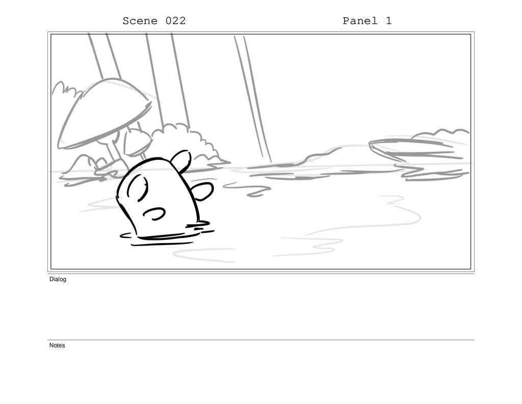 Scene 022 Panel 1 Dialog Notes