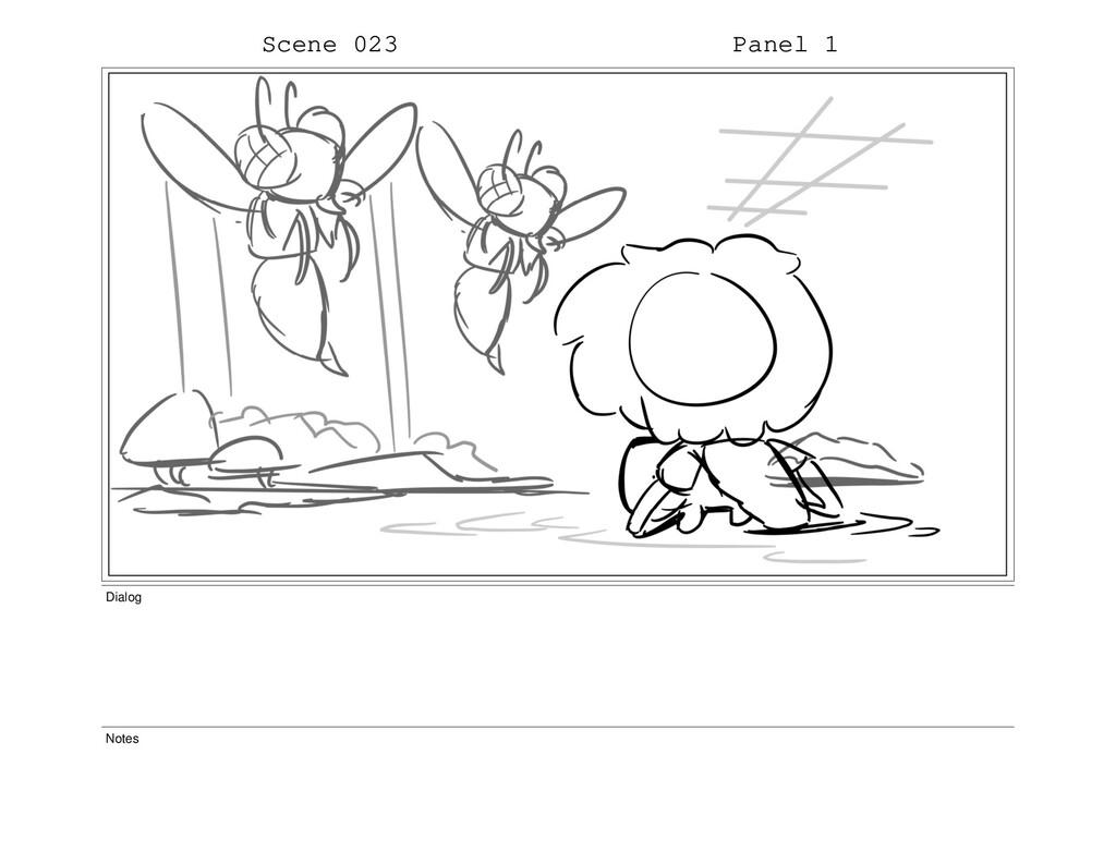 Scene 023 Panel 1 Dialog Notes