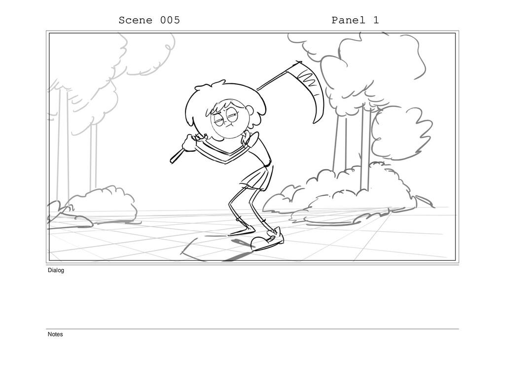 Scene 005 Panel 1 Dialog Notes