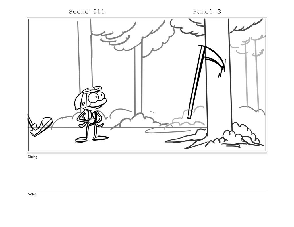 Scene 011 Panel 3 Dialog Notes