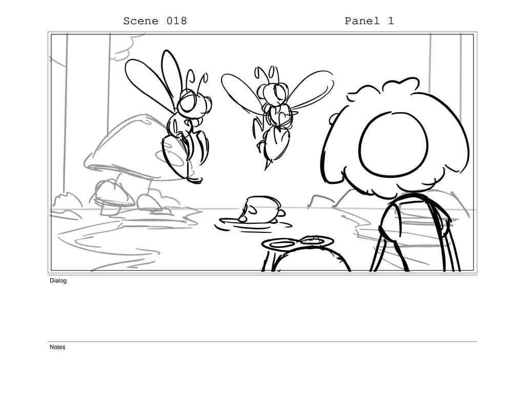 Scene 018 Panel 1 Dialog Notes