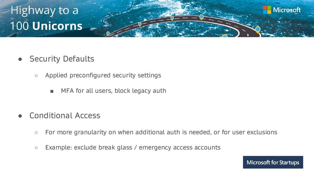 Kerala ● Security Defaults ○ Applied preconfigu...