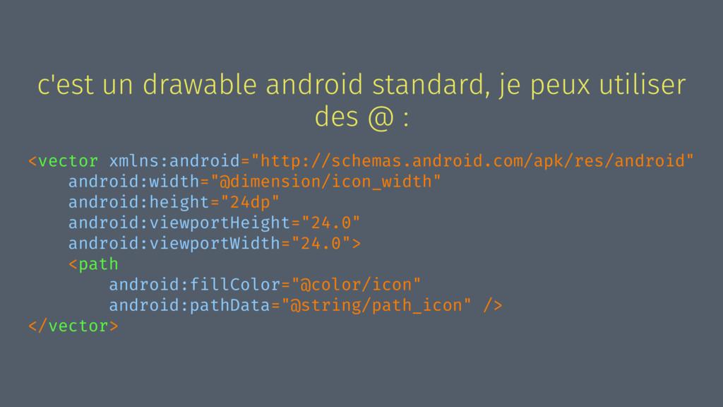 c'est un drawable android standard, je peux uti...