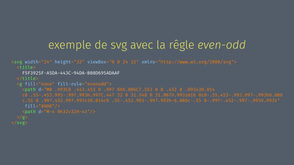 exemple de svg avec la rêgle even-odd <svg widt...