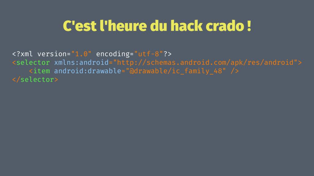 """C'est l'heure du hack crado ! <?xml version=""""1...."""