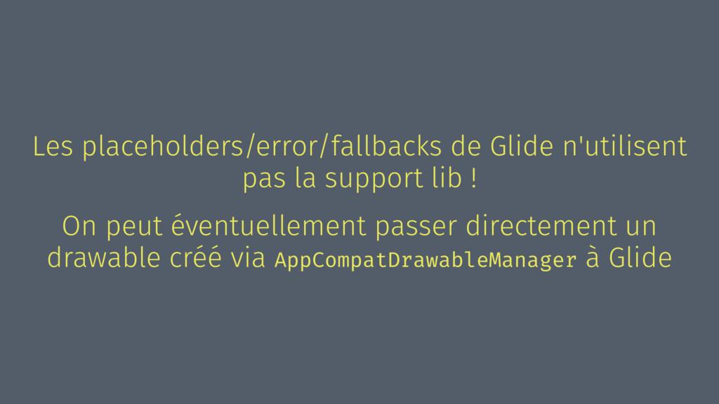 Les placeholders/error/fallbacks de Glide n'uti...