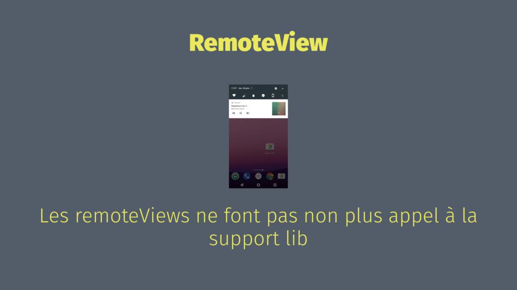 RemoteView Les remoteViews ne font pas non plus...