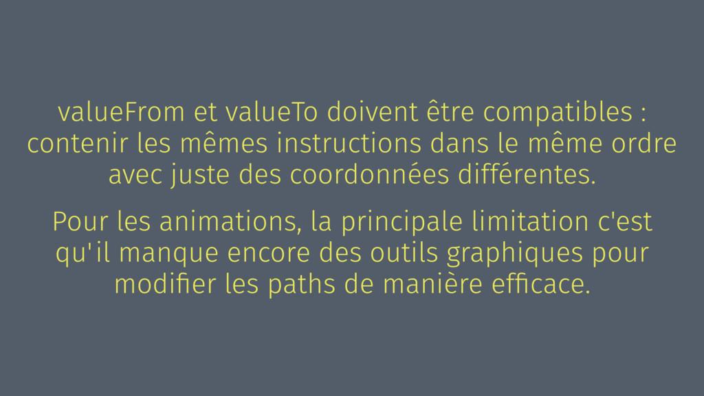 valueFrom et valueTo doivent être compatibles :...