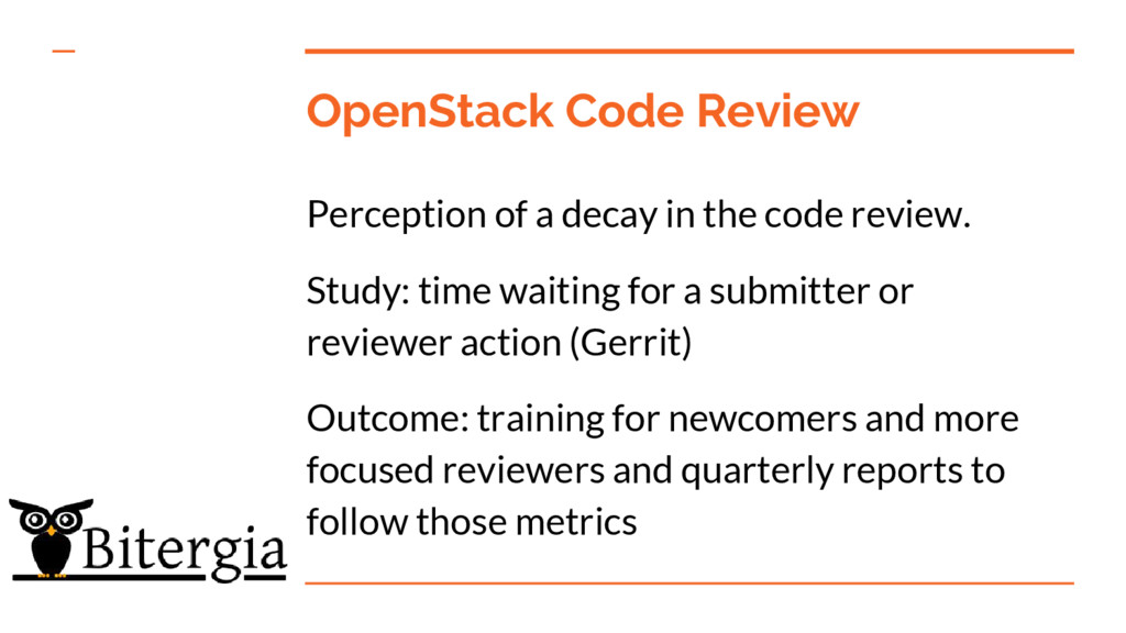 OpenStack Code Review Perception of a decay in ...