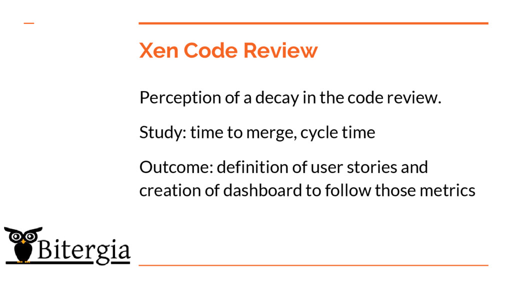 Xen Code Review Perception of a decay in the co...