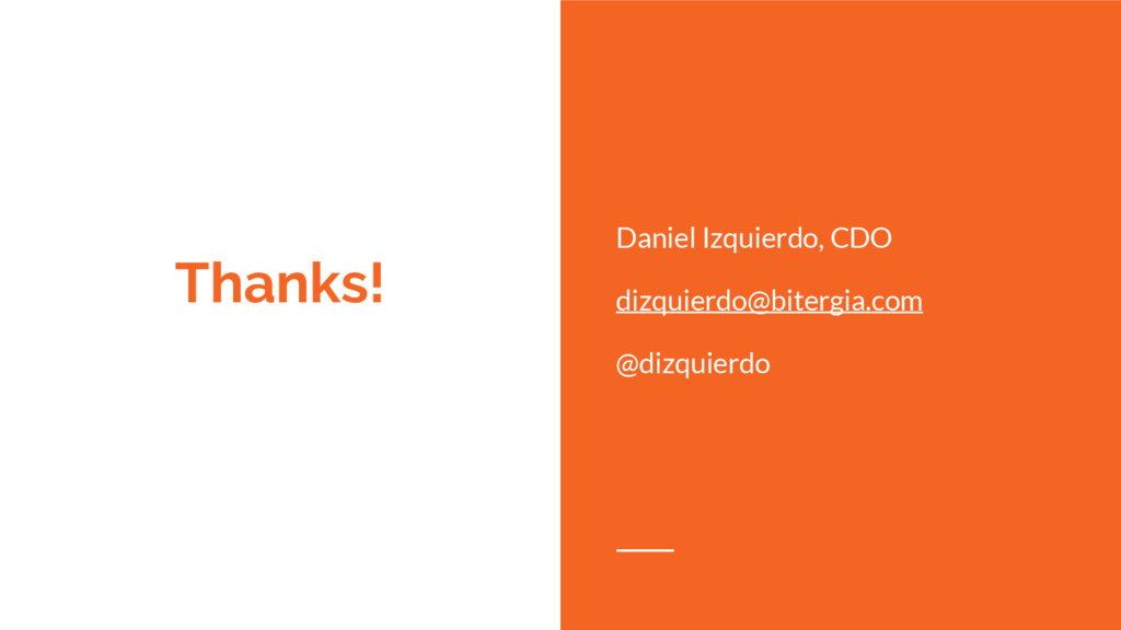 Thanks! Daniel Izquierdo, CDO dizquierdo@biterg...
